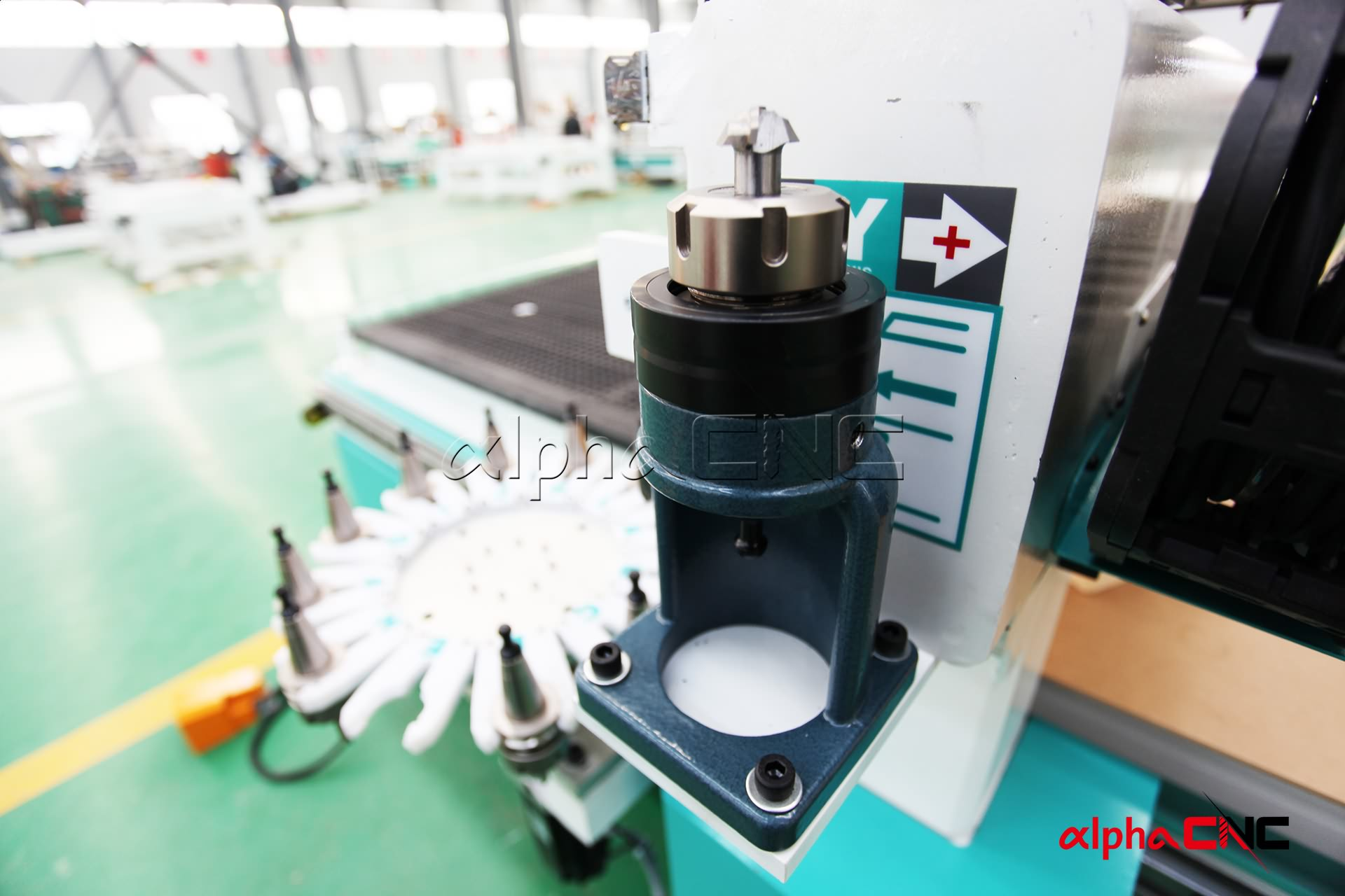 Router cnc atc serie industriale is mk1: carousel tool magazine